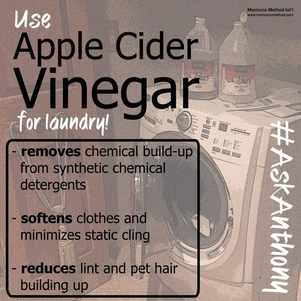 apple cider vinegar laundry